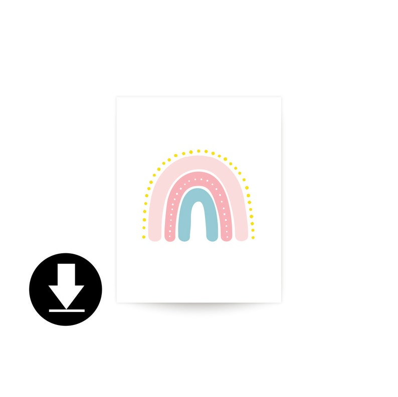 Printable Rainbow Art  small image 0