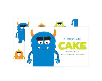 Custom Food Labels - Monster Party