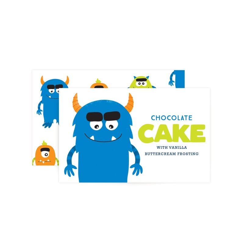 Custom Food Labels  Monster Party image 0