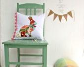 Sweet Country Bunny Cushion Pillow Cover . Cottage Chic . Vintage Trims . oz au wandarrah etsyau easter baby gift rabbit australia