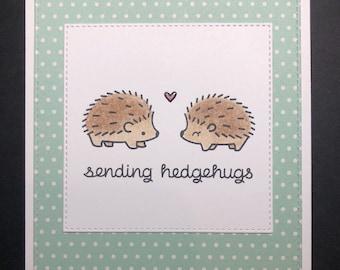 Lawn Fawn Hedgehugs Valentine