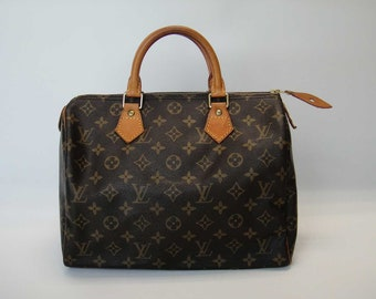 635b39edab50 AUTHENTIC Pre Owned Vintage Louis Vuitton Monogram SPEEDY 30