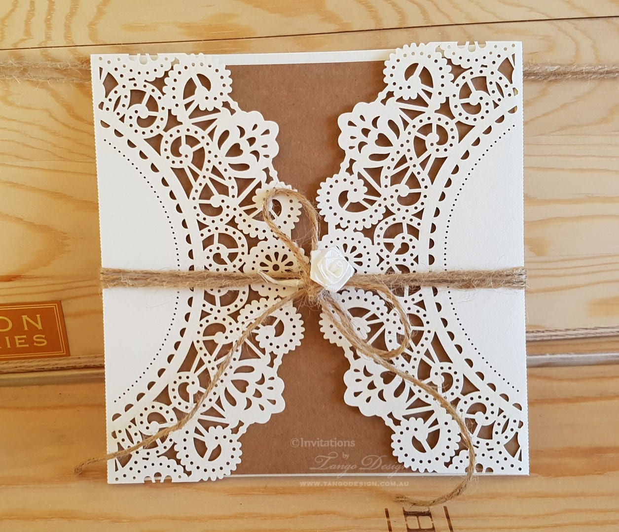 Diy Wedding Invitations Kits: DIY Wedding Invitation Kit. RUSTIC Lace Invitation. DIY