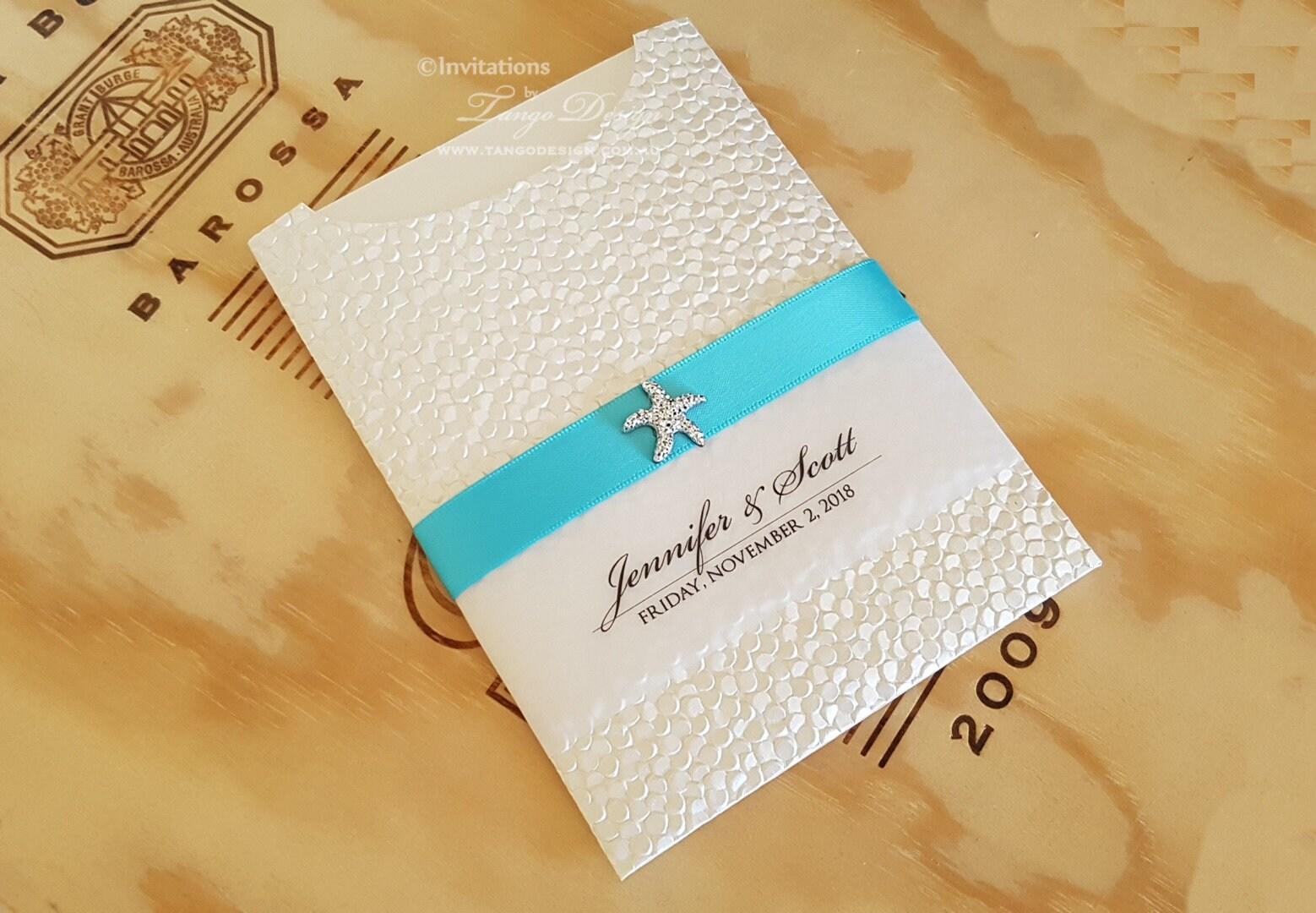 Etsy Beach Wedding Invitations: BEACH Wedding Invitation Starfish Beach Invitations Suite