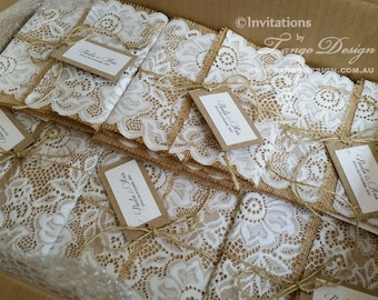 Country lace invite. Boho invitation with lace. Boho Shower. Vintage Lace invitations Barn. Cottage invitation. Shabby chic wedding Invites