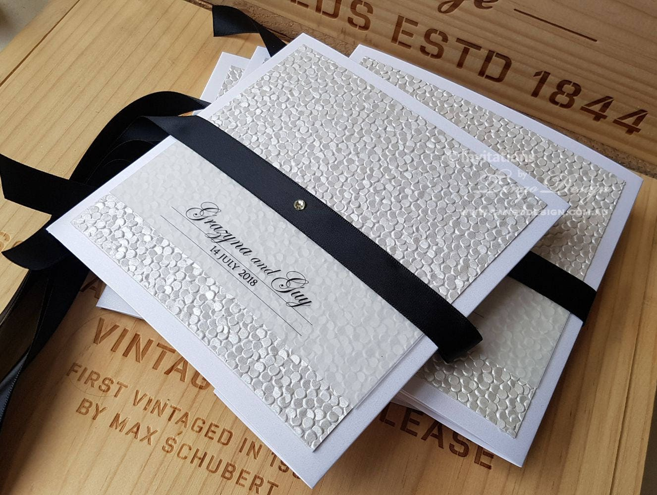 Ivory Wedding Invitations: Black And White Invitations Ivory Wedding Invitation