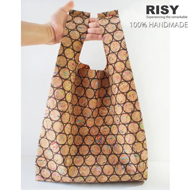Cork Tote Bag  Shopping Bag  Diaper Bag
