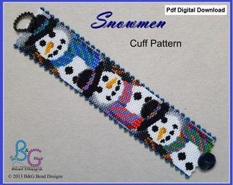 pdf Digital Download STABLEMATES Peyote Cuff Bracelet Pattern