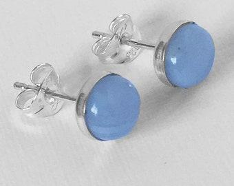 Blue Lace Studs