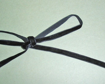 "10mm (3/8"") velvet ribbon trim - black 10yd"