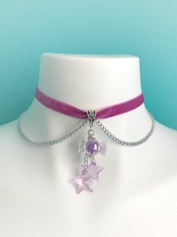 Fairy kei choker kandi choker cute beaded necklace pastel kei necklace kawaii choker