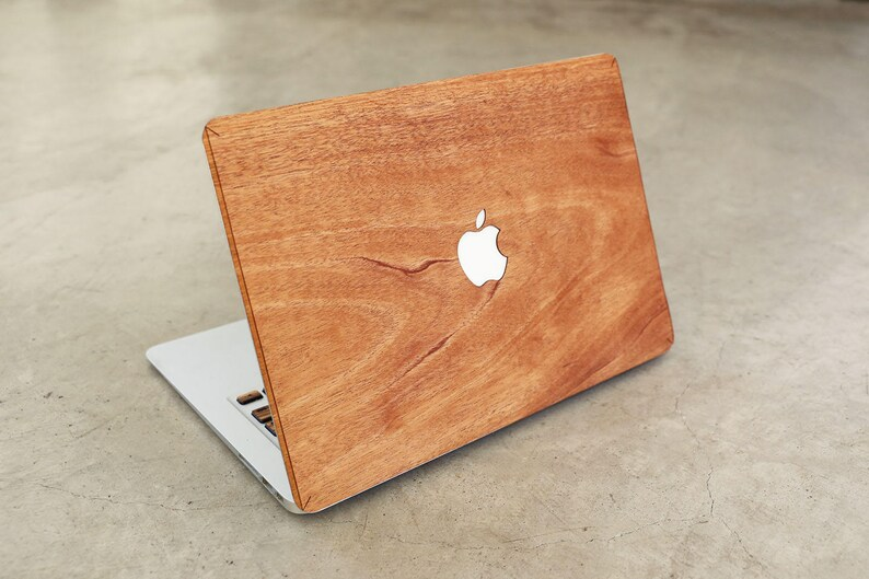los angeles b847a 85558 Wood MacBook Real Mahogany Skin Cover Decal Case for MacBook 12 Air 11 13  Pro 13 15 Retina 13 15 Touchbar