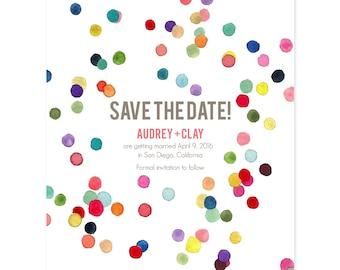 """Save The Date, """"Confetti"""""""