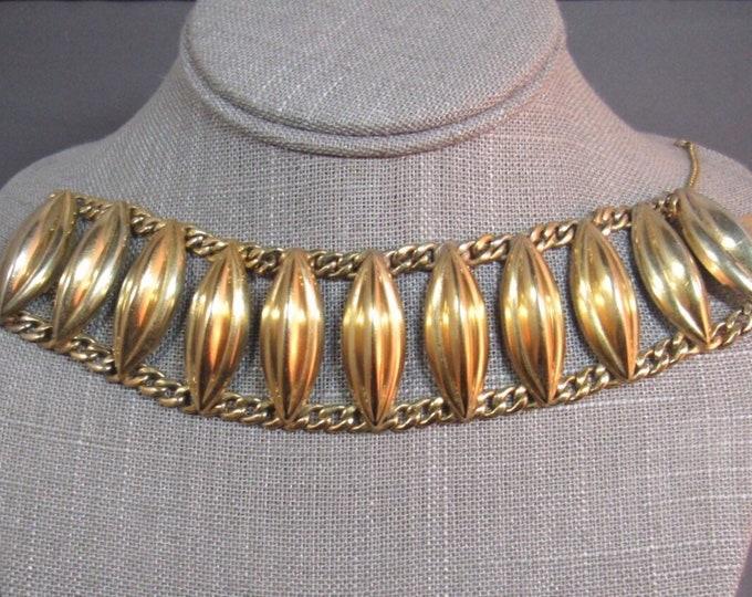 Vintage NAPIER sterling 925 vermail gold modernist panel signed bracelet 52 grams FREE SHIPPING !