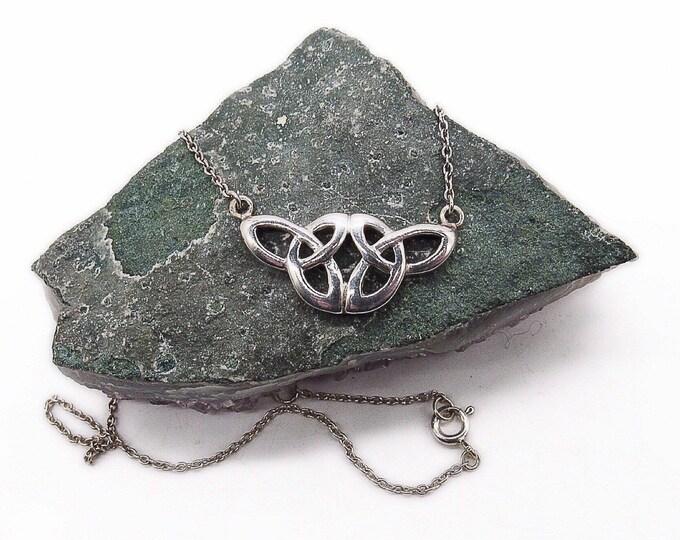 Vintage Heritage Kit Heath Sterling Silver Celtic Knot design signed necklace