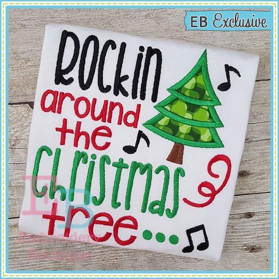 Rockin Around The Christmas Tree.Rockin Around The Christmas Tree Onesie Shirt