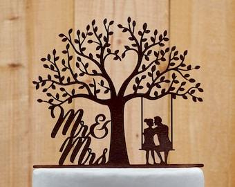 Customized Wedding Cake Topper, Personalized Cake Topper for Wedding, Custom Personalized Wedding Cake Topper, Mr and Mrs Cake Topper - 01