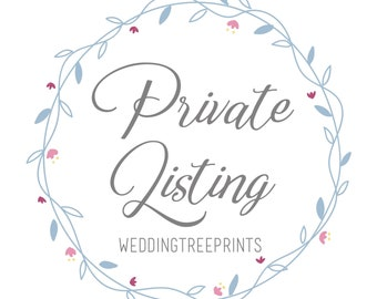 Wedding Tree Prints