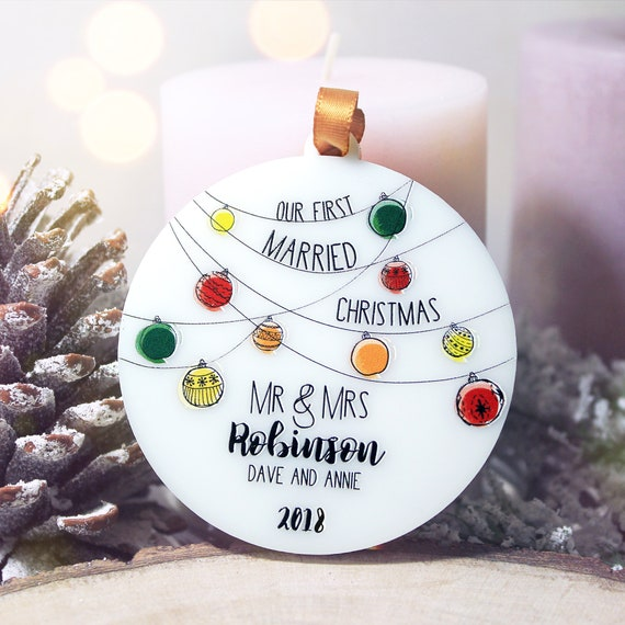 image 0 - Personalized Our First Christmas Ornament Married Our First Etsy