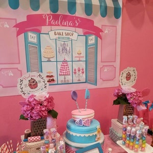 DORCEV 10x8ft Candy Store Backdrop for Girls Baby Shower 1st First Birthday Party Photography Background Sweet Candy Shop Dessert Cake Table Banner Wallpaper Newborn Baby Kids Photo Studio Props