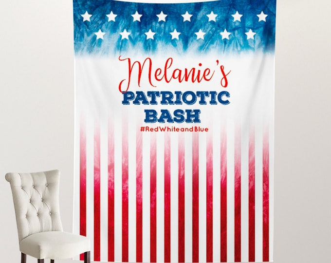 Welcome to Office Party Orange Personalized Step Repeat Photo Backdrop