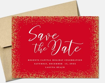 christmas cards save the dateholiday save the date etsy