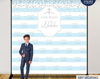 first communion photo booth backdrop custom step and repeat backdropreligious bannerprinted or printable any colorfree shipping bfc0009
