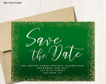Holiday Save Date Etsy - Holiday save the date templates free