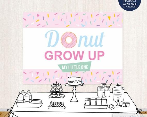 donut birthday party backdrop donut grow up party backdrop donut shoppe party sprinkles