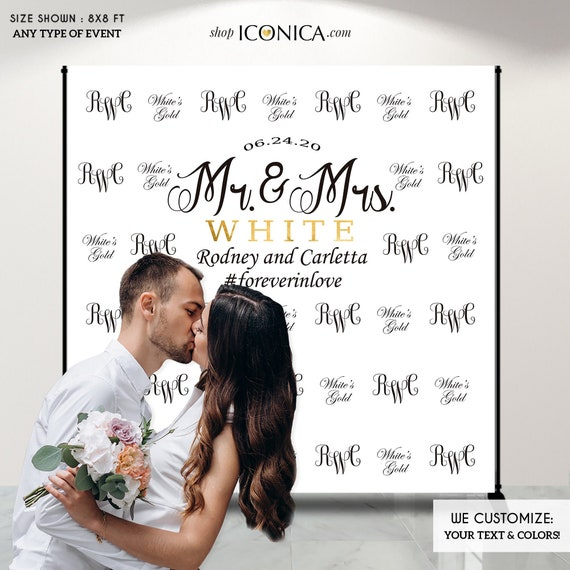 Engagement Party Photo Booth Backdrop Custom Step And Repeat Backdrop Engagement Party Banner Wedding Backdrop Printed Or Digital File By Iconica Design Catch My Party