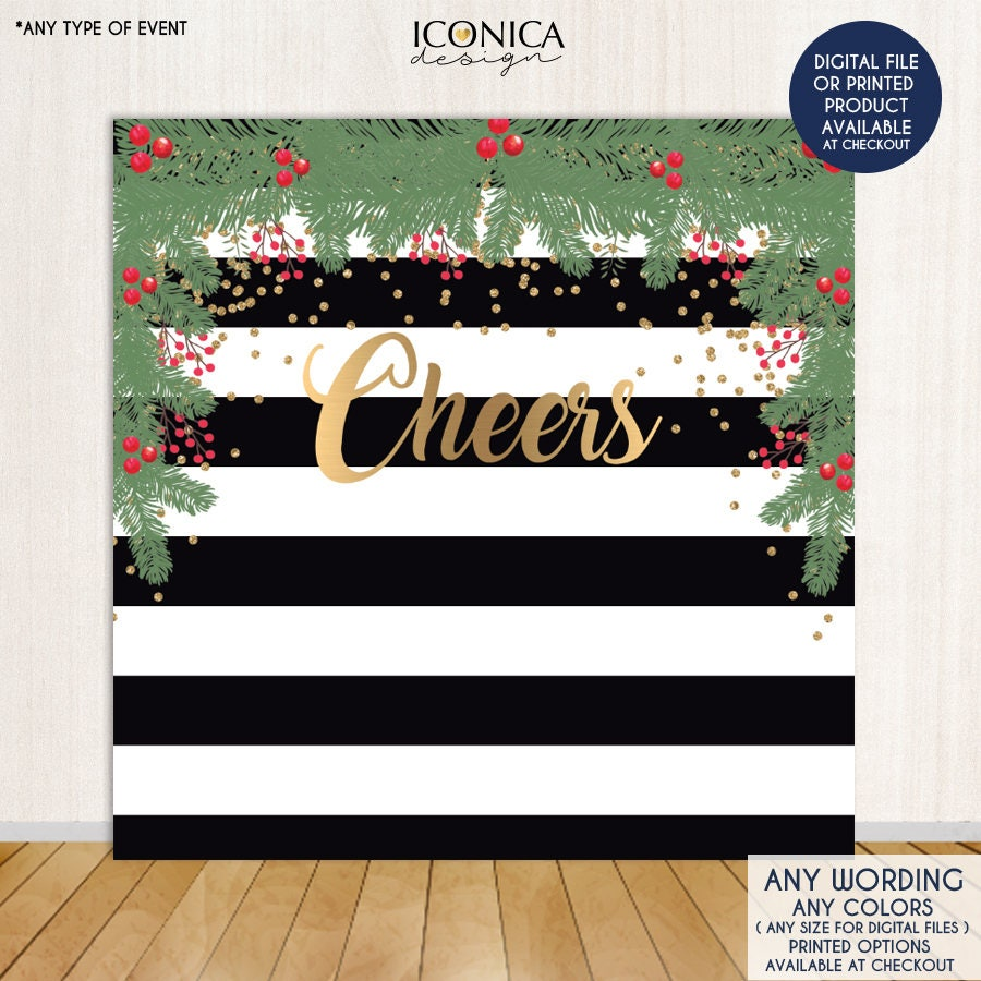 christmas photo booth backdrop christmas party backdrop etsy