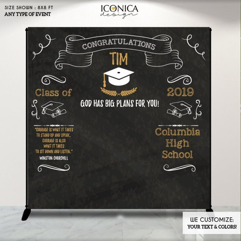 Graduation Party Photo Booth Backdrop,Personalized Graduation Banner,Congrats Grad,Graduation Decor,Banner Printed Or Printable File BGR0016