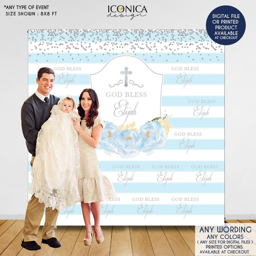 baptism backdrop first communion backdrop personalize christening backdrop baptism backdrop boy first communion