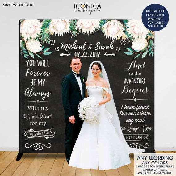 Wedding Photo Backdrop Custom Step And Repeat Backdrop Etsy