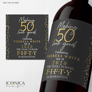 Personalised Birthday Anniversary Wine Bottle Label A28
