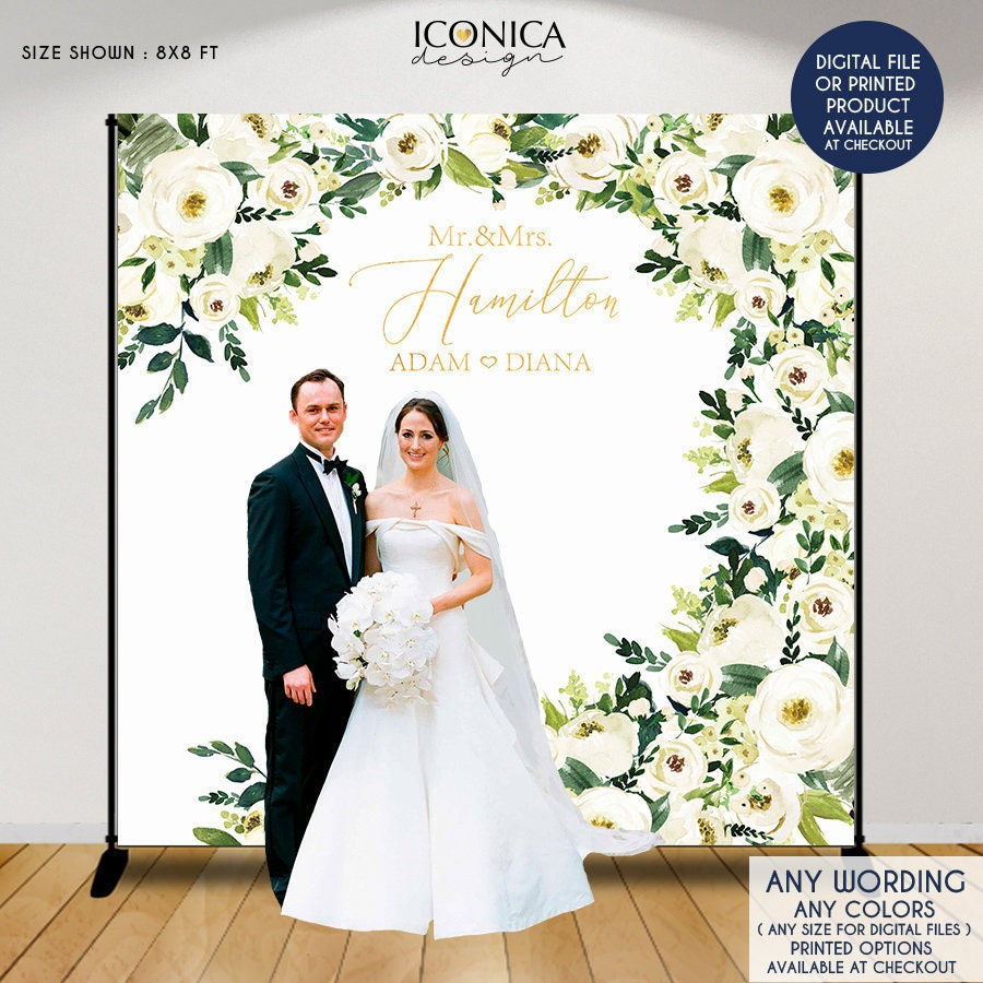 Wedding banner: photo options, the most interesting design ideas 6