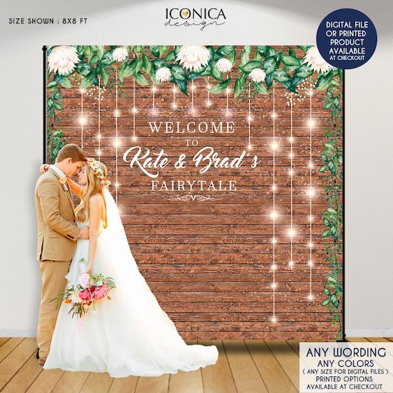 Wedding Celebration Printed Backdrop WED-BF-001 White Background