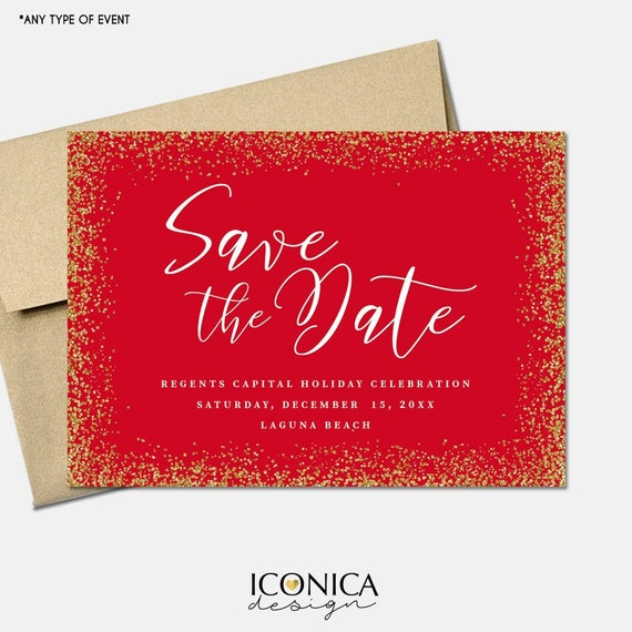 Christmas Save The Date Cards.Christmas Cards Save The Date Holiday Save The Date Cards Annual Holiday Dinner Invites Printed Or Printable File Free Shipping Ise0043