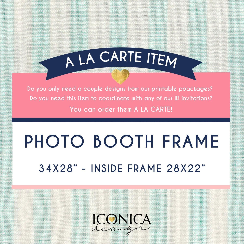 Photo Booth Frame Selfie Board Photo Prop Printable File Diy