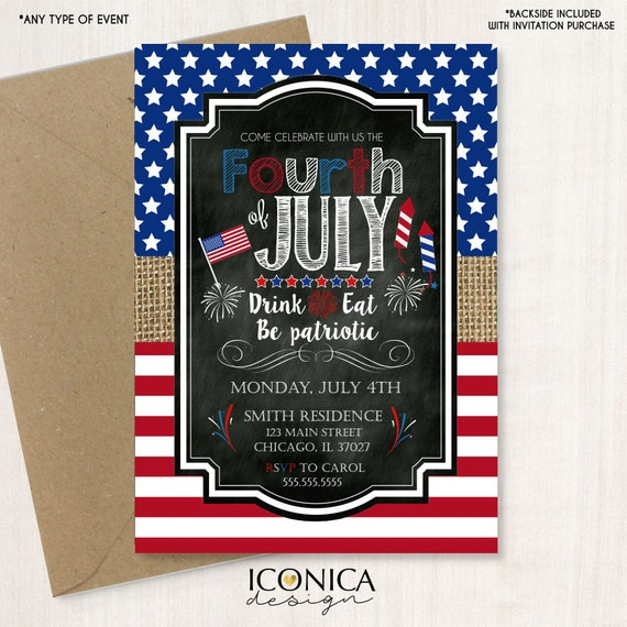 picture about Free Printable Patriotic Invitations identify 4th of july invitation - Patriotic american Invitation