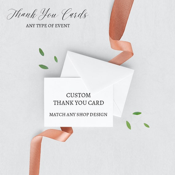 Printable Thank You Cards| Thank You Cards A-La-Carte Thank You Cards Add On Made-to-match