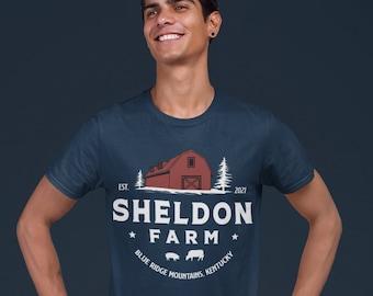 Men's Personalized Farm Shirt Barn Farmer T Shirt Gift For Farming  Beef Dairy Cow Sow Pig Vintage Farm TShirt Unisex Soft Graphic Tee
