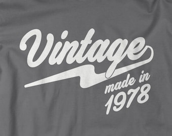 ed198e09 Shirts By Sarah Men's Vintage Made In 1978 40th Birthday Shirts Retro Tee.  175.04 NOK. Men's Firefighter Dad T-Shirt ...