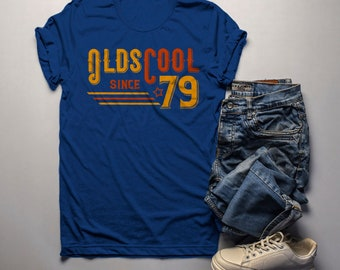 Mens Vintage T Shirt 1979 Birthday Olds Cool 40th Tee Retro Gift Idea Oldscool Shirts