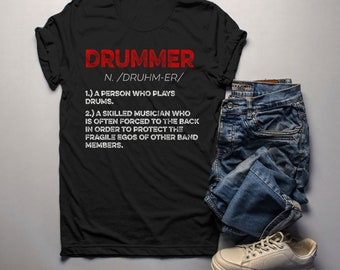 fc4e8c1d93 Men's Funny Drummer Shirt Drummer Definition Tshirt Drummer Gift Idea Band Shirts  Drummer T Shirt