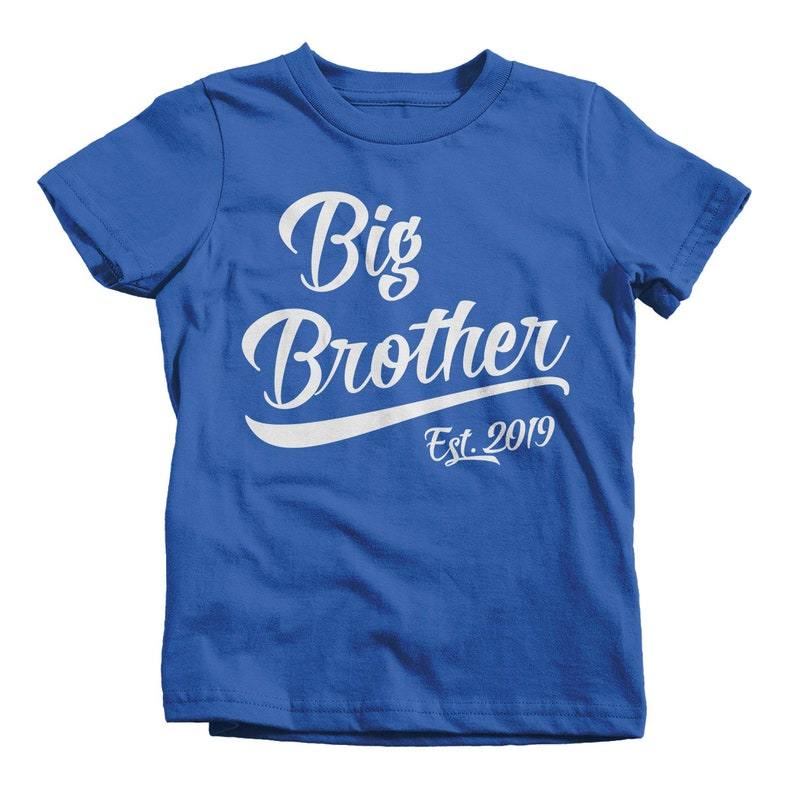 a76607f9 Boy's Big Brother EST. 2019 T-Shirt Promoted to Shirt Baby | Etsy