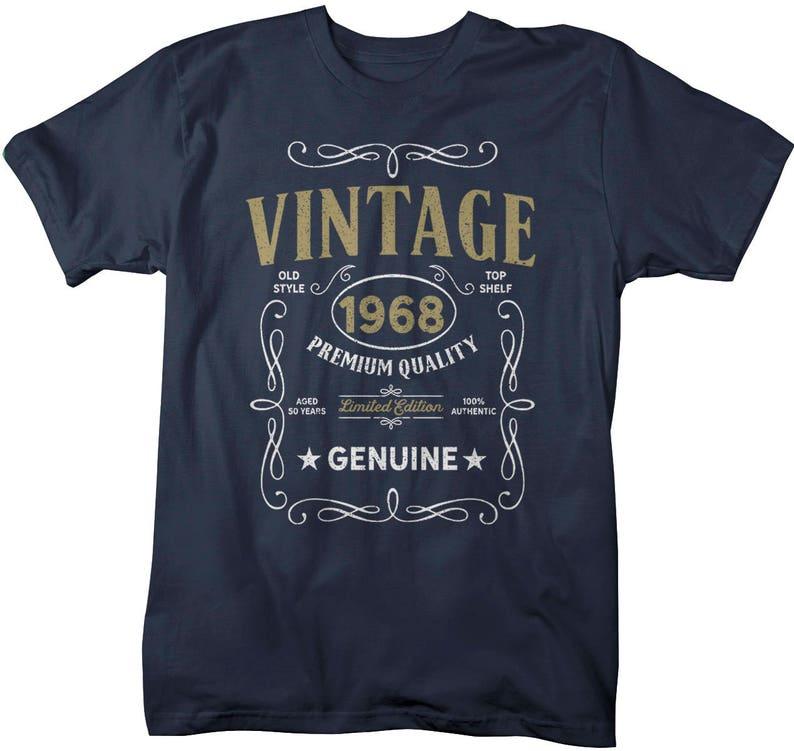 Mens Vintage 1968 50th Birthday Shirt T Classic