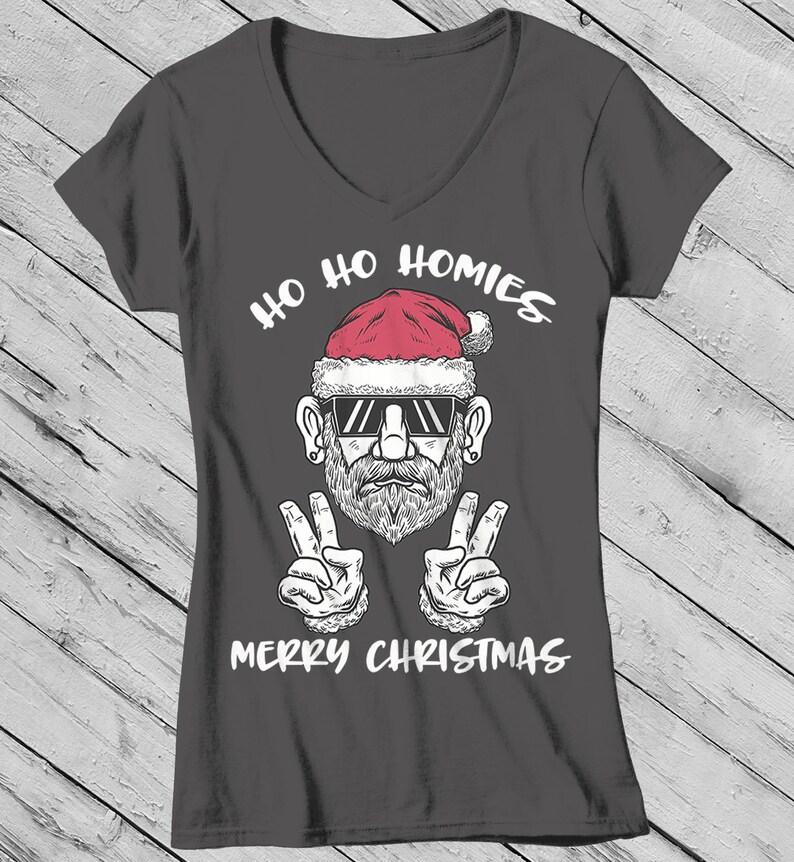 e290c013 Women's Funny Christmas Shirt Christmas T-Shirt Santa   Etsy