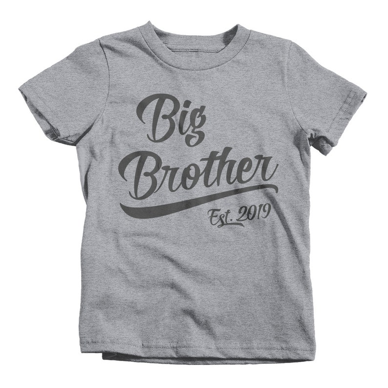 Boy's Big Brother EST. 2019 T-Shirt Promoted to Shirt Baby ...