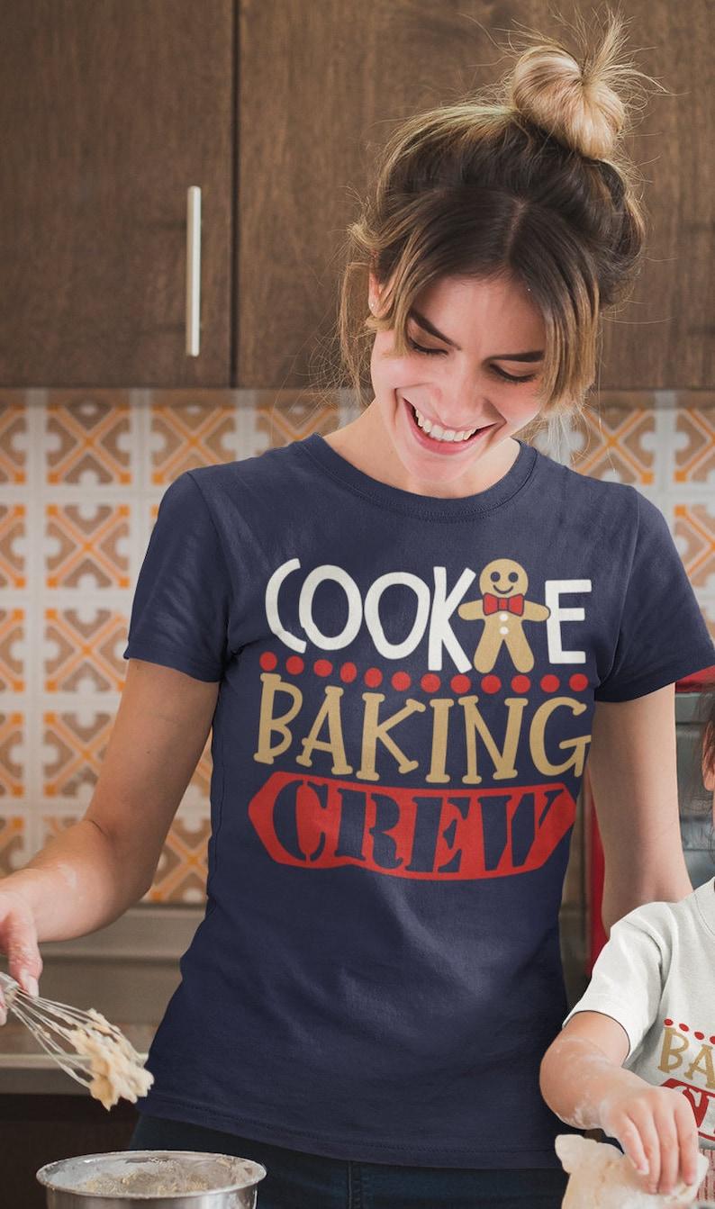 644c7130 Women's Christmas T Shirt Cookie Baking Crew Matching Xmas | Etsy